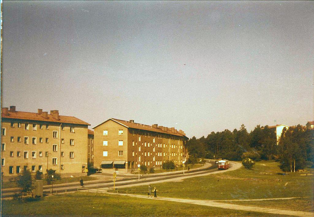 Malmövägen på 1950-talet innan tunnelbanan byggts ut